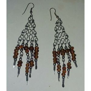 Jewelry - BOHO Chandelier Light Catching Earrings 3.5 inches